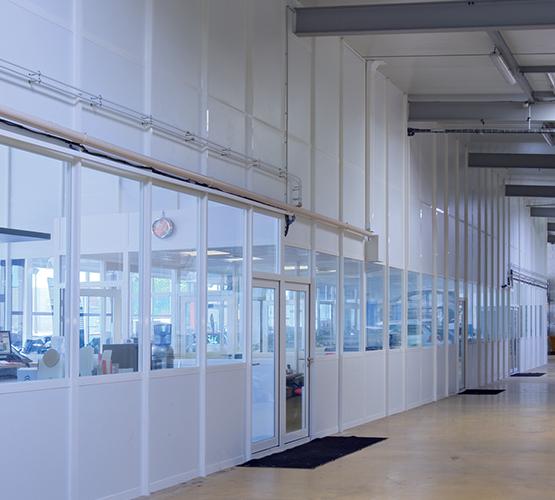 Cloisons industrielles grande hauteur BCA5